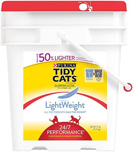 Tidy Cats Cat Litter, Clumping, 24/7 Performance, LightWeight, 17-Pound Pail Pack