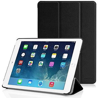MoKo Apple iPad Air 2 (iPad 6) ケース - Apple iPad Air 2 (iPad 6) 9.7インチ iOS 8タブレット専用開閉式三つ折薄型スタンドケース。 BLACK