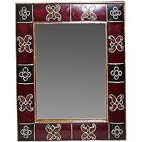 Barr Arts Wooden Hand Painted Mirror Frame (43 Cm X 3 Cm X 61 Cm ) 2 Pieces
