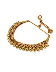 Maharaja Crafts Gold Plated Necklace With Earrings For Women - B00WJGZDNC