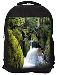 """Snoogg Water Flowing Throiugh The Stones Casual Laptop Backpak Fits All 15 - 15.6"""" Inch Laptops"""