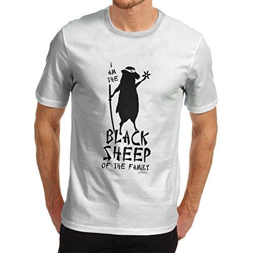 De manga corta para hombre divertido printed mugs Ninja diseño con estampado de tigre diseño de ovejas negras carcasa T-camiseta...