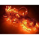 Diwali Lights Pack Of 15 Rice Lights | 12.5 Meter / 41 Feet Long | 81 Bulbs In Yellow Colour