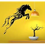 Hoopoe Decor Running Horse Wall Arts, Wall Stickers And Wall Decals - Black