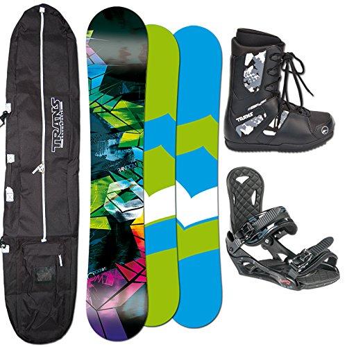 FTWO Snowboard RANDOM 157cm + Eco Bindung + Boots + Bag SET