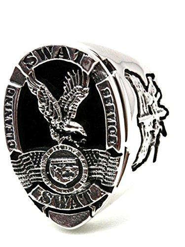 US・SWATカレッジリング【15号】ring175(シルバー925、指輪)