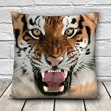 3D Animal Patterns Throw Pillow Case Sofa Office Car Cushion Cover Home Décor-Tiger