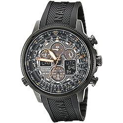 Citizen Men's JY8035-04E Navihawk Stainless Steel Eco-Drive Watch