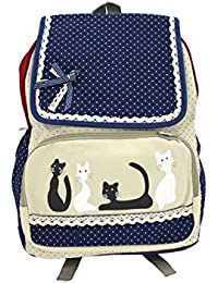 Shopaholic Cute School Bag For Kids With Attractive Polka Dots Sequence - 6 (Color May Vary)