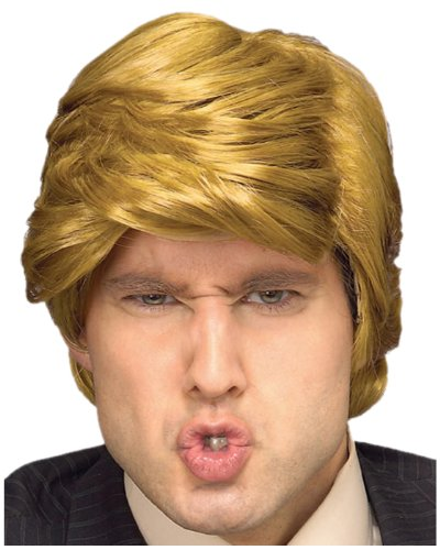 Trump and Clinton Halloween Costumes - Choose Edgy or Funny - Rubie's Costume The Billionaire Wig, Blonde, One Size