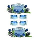 Kriti Creations Unsented Designer Glass With Tea Light Candle - B015XOOC4M
