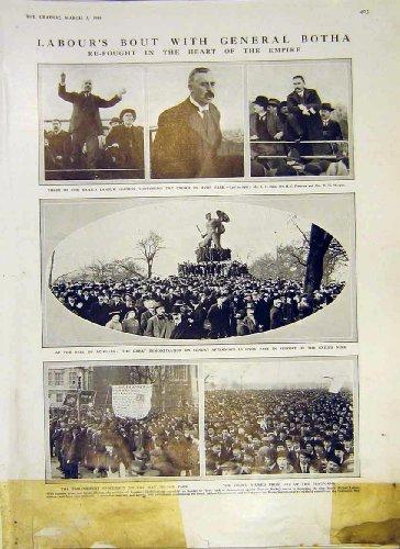 Labour General Botha Hyde Park Demonstration