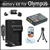 Battery And Charger Kit For Olympus VR-340 SZ-12 XZ-1 SZ-10 SZ-20 SZ-30MR SP-800UZ SP-810UZ SZ-11 SZ-31MR IHS...