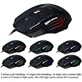 Sonlipo USB Wired Gaming Mouse 5500 DPI 7 Button Big Computer Mouse Compatible Window 7 Windows 8 Windows 10,Vista...