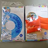 Intex Clear Color Swim Tube + Pair Of Arm Band Swimming Trainer - Family Set - Tube Colors May Vary