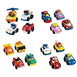 Fisher Price Little Wheelies Complete Set Community Helpers, Working, Trucks & Racing 16 Vehicles Total