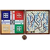 """Set Of 12 - Wooden Ludo Board Games Set - Magnetic Board And Pieces - Gifts Packs - 10.5"""" X 10.5"""""""