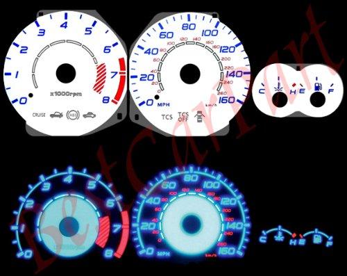 03-06 Hyundai Tiburon w/ Tach WHITE REVERSE GLOW GAUGES