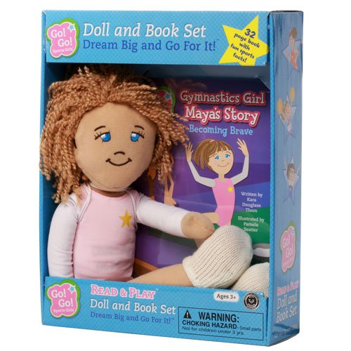 Gymnastics Girl Maya's Story: Becoming Brave: Read & Play Doll and Book Set (Go! Go! Sports Girls)