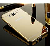 D-kandy Aluminum Metal Bumper With PC Mirror Back Cover Case For Samsung Galaxy New J7 2016 / J710 - GOLD