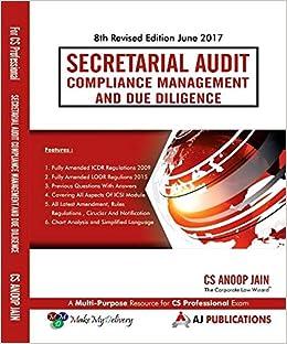 Secretarial Audit Compliance Management and Due Diligence for CS Professional June 2017