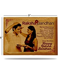 Presto Raksha Bandhan Gift Rakhi Gift Wooden Photo Frame By Engraving Process 9 X 6 Inch
