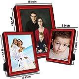 Elegant Arts & Frames Set Of 3 Silver Metal Photo Frames 5 X 7 , 8 X 6 , 10 X 8 - B01IKOREYM