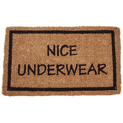 Non Slip Coir Doormat, Nice Underwear
