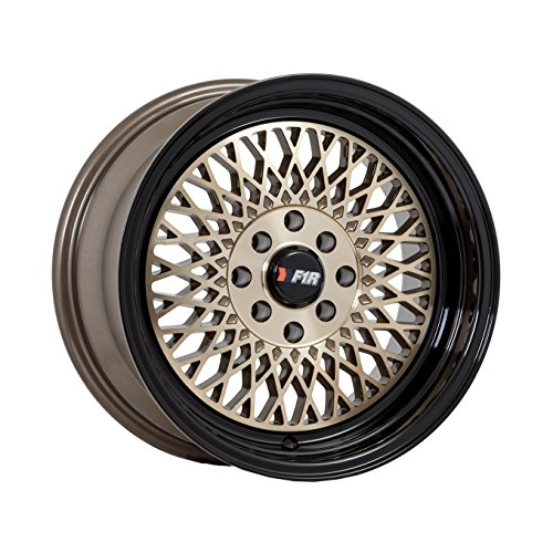 F1R F01 15 Bronze Black Wheel / Rim 4×100 & 4×4.5 with a 0mm Offset and a 67.1 Hub Bore. Partnumber F01158BZ0