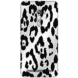 Snoogg Leopard Skin White And Black Designer Protective Back Case Cover For Asus Zenfone Selfie ZD551KL Dual Sim