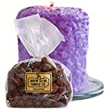 Warm Glow Candle Company Lilac Blossom Hearth Candle, 6 Oz, Unscented Rose Hips
