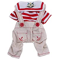 Imported Pet Dog Cat Puppy Clothes Romper Costume Hoodie Jumpsuit Apparel Coat Red XL