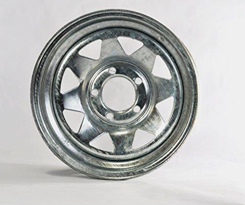 Two Boat Trailer Rims Wheels 14″ 14X6 5 Lug Hole Bolt Galvanized Spoke Design