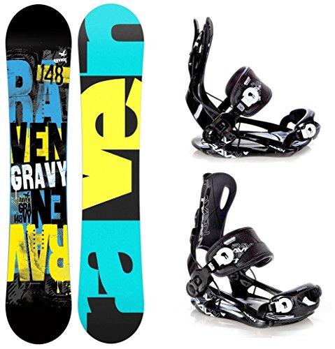 Snowboard Set: Snowboard Raven Gravy Gullwing + Bindung Raven Fastec FT270 Black L