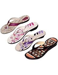 Krocs Super Comfortable Combo Pack Of 2 Pair Flip Flop With 2 Pair Slippers For Women (Pack Of 4 Pair) - B01JS6TUSY