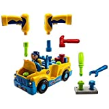 Dazzling Toys Tool Equipped Riding And Singing Fix It Tool Truck, Lights And Music, Bump And Go Action,