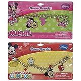 Disney Mickey & Minnie Mouse Charm Bracelet 2 Pack