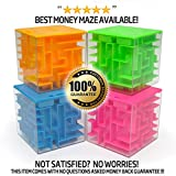 Money Maze: Unique Way to Give Small Gifts, Items - Perfect Gift Puzzle Box for Kids - Cool 1, 2, 5 Dollar Coin Piggy Bank - Safe for Children - Birthday Christmas Gift Ideas for Dad Mom Men or Women