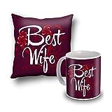 Best Wife Cushion Cover And Coffee Mug Combo