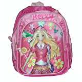 Wise Guys Princess Embossed 3D Print School Bag For Kids - Pink 3