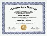 Embalmer Embalm Embalming Degree: Custom Gag Diploma Doctorate Certificate (Funny Customized Joke Gift - Novelty Item)