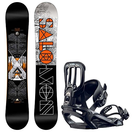 Herren Snowboard Set Salomon Sight 155W + Pact 2017 Snowboard Set