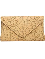 Super Drool Women Casual Yellow Leatherette Clutch