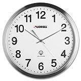 Lorell - Atomic Wall Clock 11-3/4 Chrome Sold As 1 Each LLR 61001