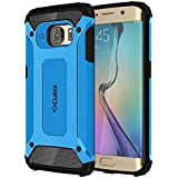 Cubix Impact Hybrid Armor Defender Case For Samsung Galaxy S6 EDGE (Blue)