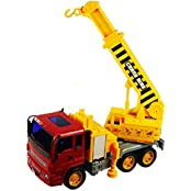 Hook And Crane Truck Friction Powered Construction Vehicles Childrens Toy Truck, Toy:CV4