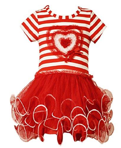 Bonnie Jean Little Girls Stripe Heart