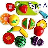 3 Type Kitchen Toys Child Parent Classic Toys Kids Pretend Play Plastic Fruit Cut Kitchen Velcro Toys