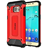 Cubix Impact Hybrid Armor Defender Case For Samsung Galaxy S6 Edge+ (Red)
