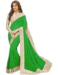 Sonani Fashion Designer Plain Georgette Party Wear Saree With Blouse Piece